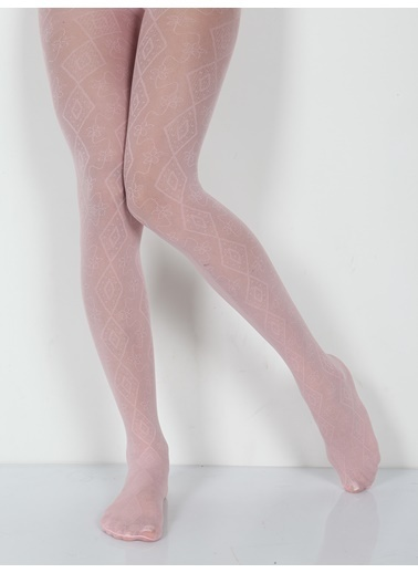 Pierre Cardin Micro 40 Desenli Külotlu Çocuk Çorabı Pembe